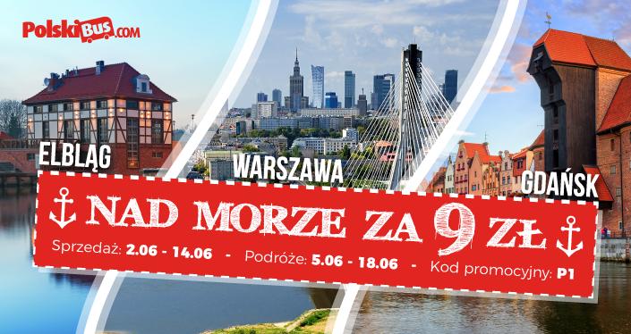 Nad morze z PolskiBus.com