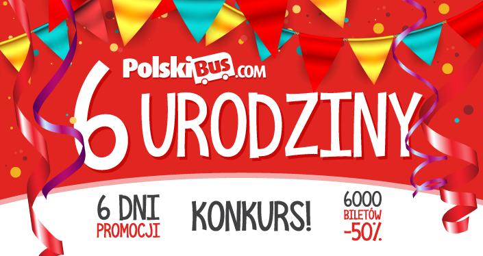 6 urodziny PolskiBus