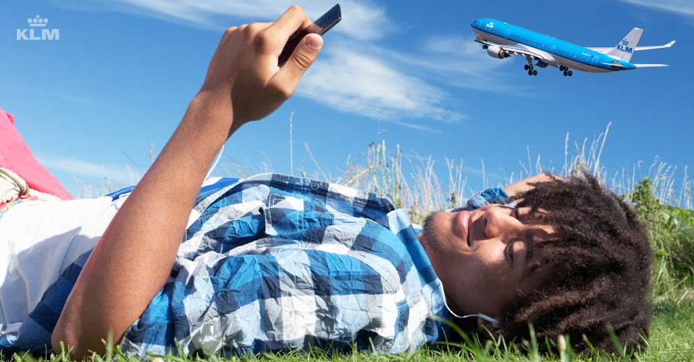 Klient KLM korzystający z komunikatora