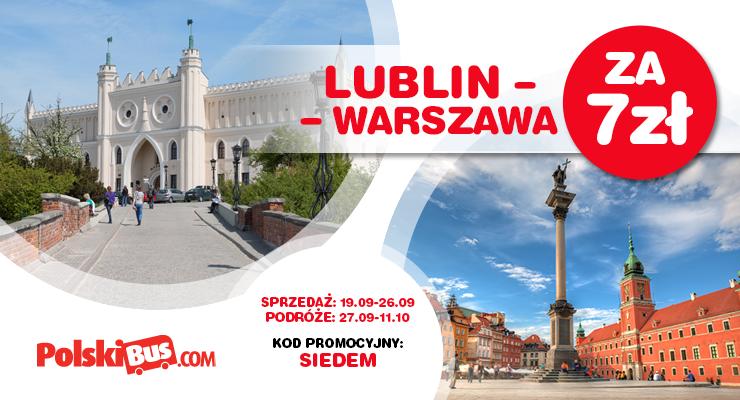 Lublin - Warszawa za 7 zł