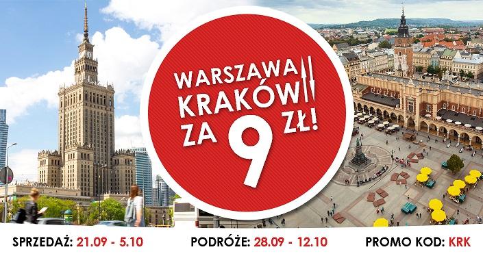 Warszawa - Kraków za 9 zł