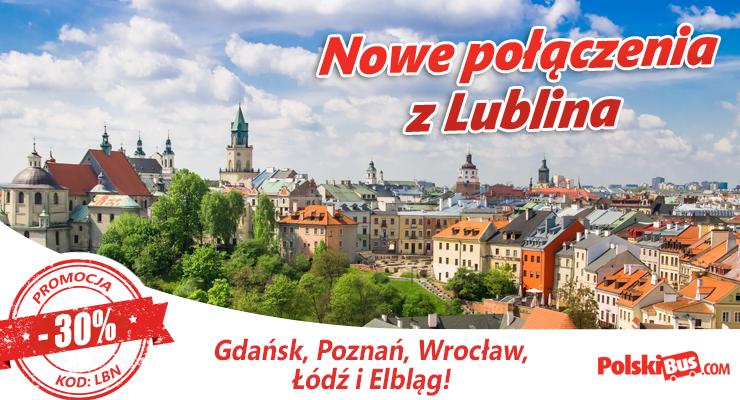 Podróże łączone PolskiBus.com z Lublina
