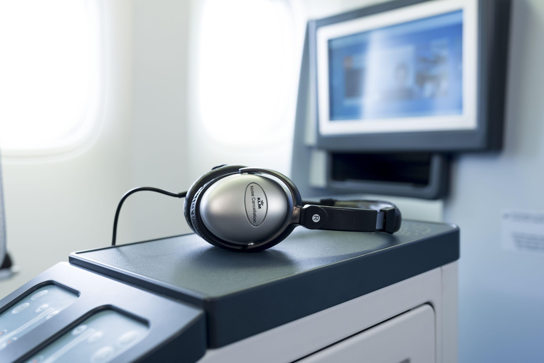 zestaw audio-video na pokładzie KLM