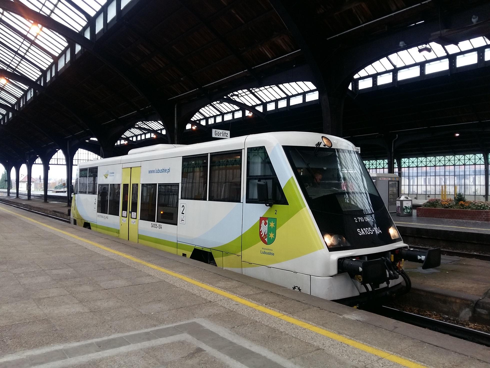 Pociąg POLREGIO na stacji Görlitz fot. PR