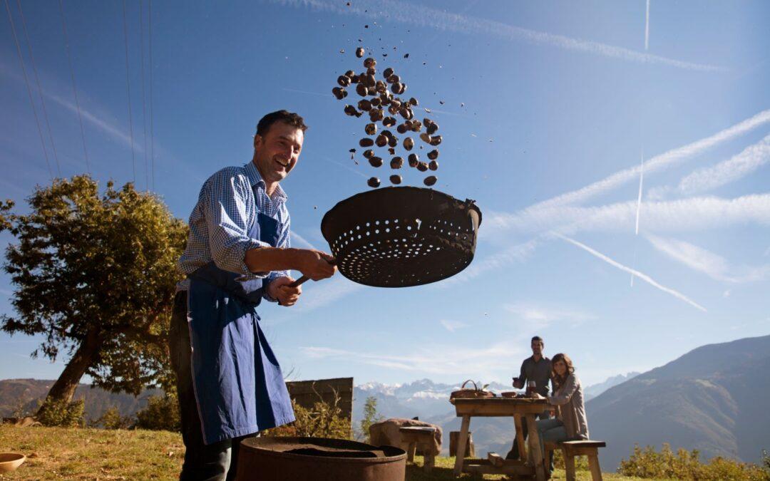 Sezon na młode wino i kasztany w gospodarstwach Roter Hahn