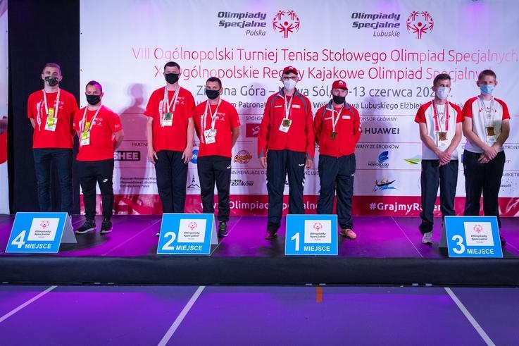 VIII Ogólnopolski Turniej Tenisa Stołowego Olimpiad Specjalnych oraz XII Ogólnopolskie Regaty Kajakowe Olimpiad Specjalnych zakończone