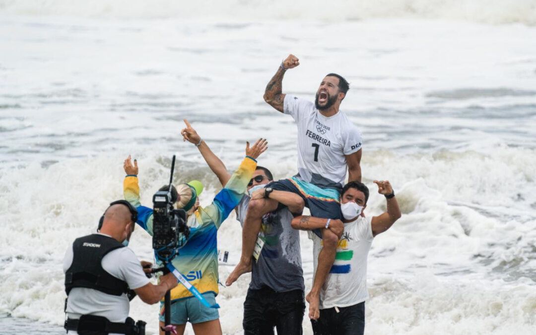 USA's Carissa Moore and Brazil's Italo Ferreira Crowned Historic First Olympic Surfing Champions
